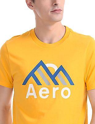 Aeropostale Crew Neck Brand Print T-Shirt