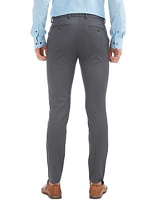 USPA Tailored Super Slim Fit Solid Trousers