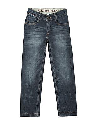 U.S. Polo Assn. Kids Boys Regular Fit Whiskered Jeans