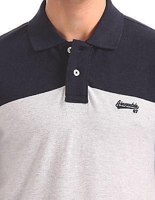 Aeropostale Colour Blocked Regular Fit Polo Shirt