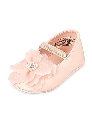 The Children's Place Baby Girls Flower Ballet Flat