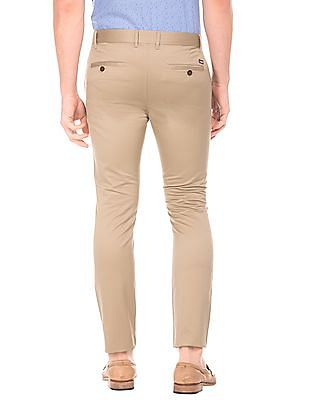 Arrow Sports Solid Slim Fit Trousers