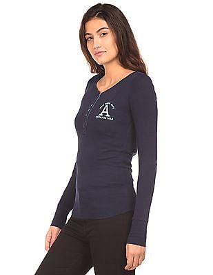 Aeropostale Long Sleeve Henley T-Shirt