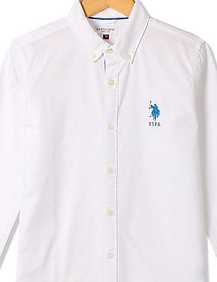 U.S. Polo Assn. Kids Boys Solid Cotton Shirt
