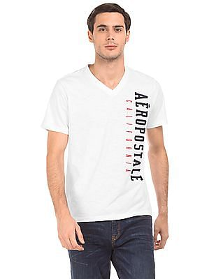 Aeropostale V-Neck Brand Applique T-Shirt