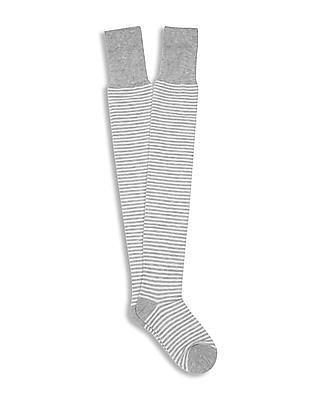 Aeropostale Over The Knee Length Striped Socks