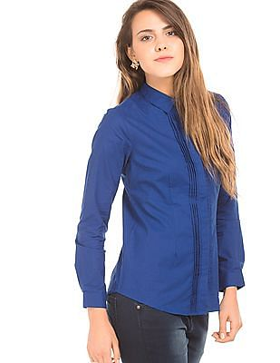Cherokee Solid Concealed Placket Shirt