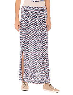 SUGR Side Slit Printed Maxi Skirt