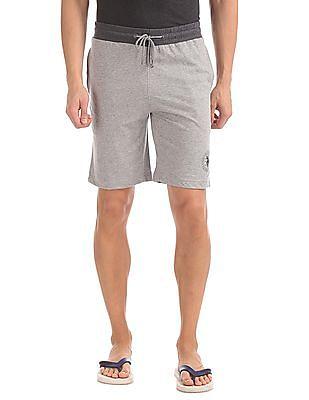 USPA Innerwear Regular Fit Heathered Shorts