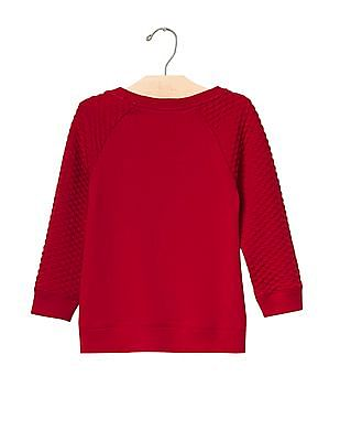 GAP Baby Cozy Quilted Sleeve Pullover