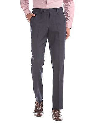 Arrow Tapered Fit Patterned Weave Trousers
