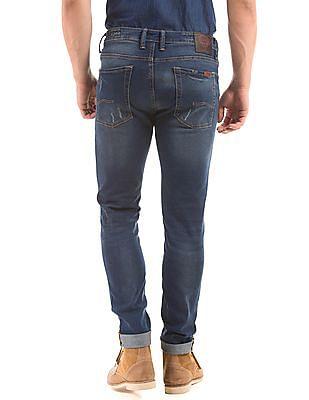 Ed Hardy Super Slim Fit Distressed Jeans