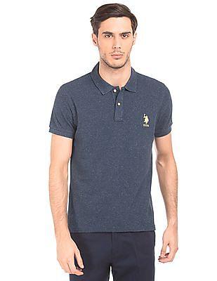 U.S. Polo Assn. Melange Slim Fit Polo Shirt