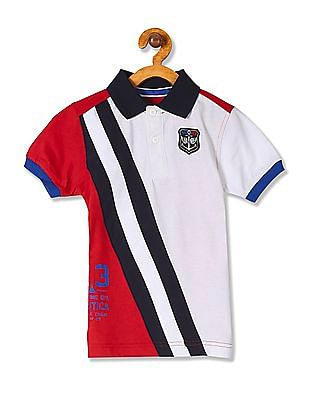 2d75f5c13e2 Nautica Kids Boys Short Sleeve Colour Block Polo Shirt