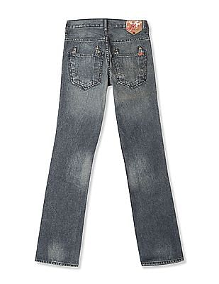 Flying Machine Women Blue Skinny Fit Bootcut Jeans