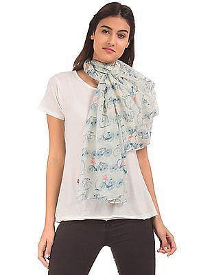 SUGR Bicycle Print Stole