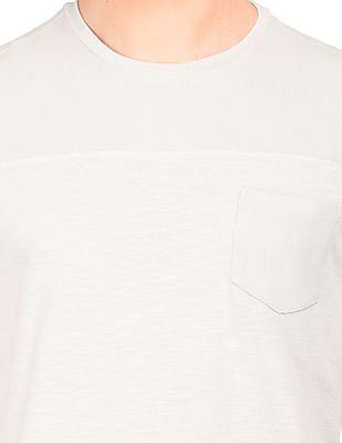 Cherokee Regular Fit Waffle Knit Yoke T-Shirt