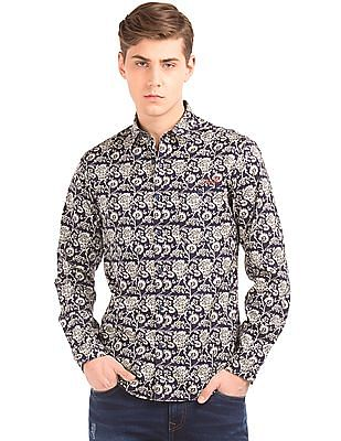 Ed Hardy Floral Print Slim Fit Shirt