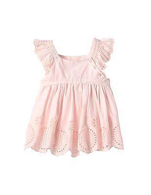 GAP Baby Pink Eyelet Flutter Top