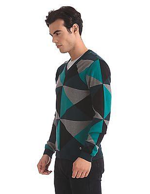 Arrow Newyork Slim Fit Patterned Sweater