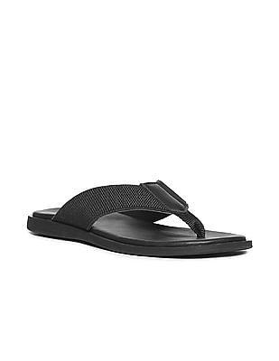 Arrow Textured V-Strap Sandals