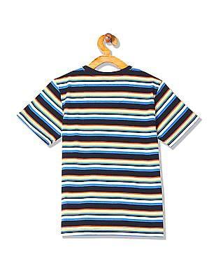 Cherokee Boys Patch Pocket Stripe T-Shirt