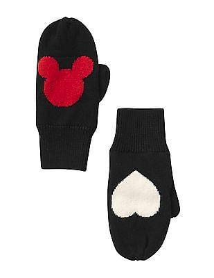 GAP Girls Disney Mickey Mouse Intarsia Mittens