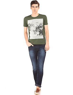 Flying Machine Printed Regular Fit T-Shirt