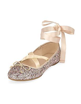 The Children's Place Baby Girl Wrap Ballet Shoes