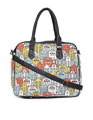 SUGR Multi Colour Printed Oversized Handbag