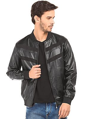 Flying Machine Panelled Slim Fit Bomber Jacket