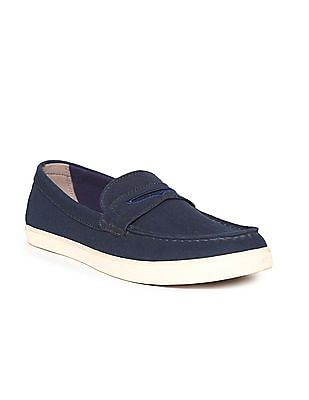 Cole Haan Canvas Penny Loafers