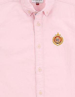 U.S. Polo Assn. Kids Boys Cotton Button Down Shirt