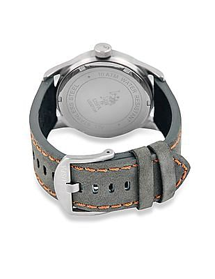 U.S. Polo Assn. Leather Strap Analogue Watch