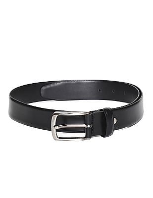 Excalibur Black Textured Leather Belt