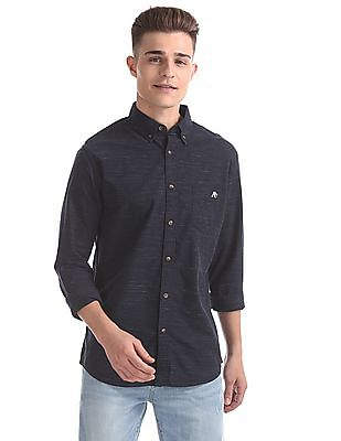 Aeropostale Regular Fit Patterned Shirt