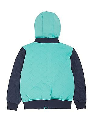 U.S. Polo Assn. Kids Boys Reversible Hooded Jacket