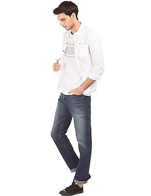 Flying Machine Stone Washe Straight Fit Jeans