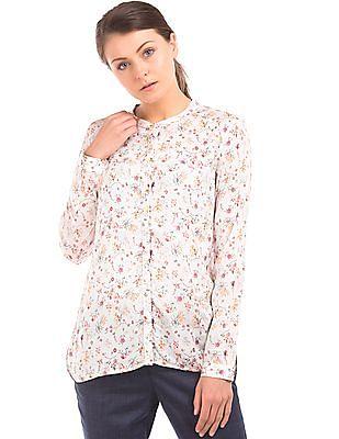 Arrow Woman Floral Print Modal Shirt