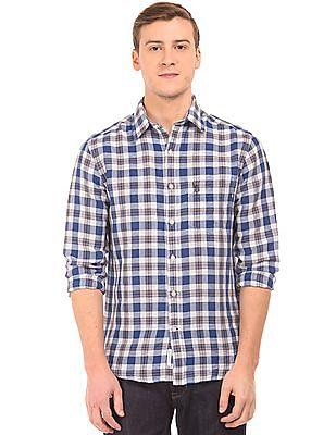 U.S. Polo Assn. Check Linen Cotton Shirt