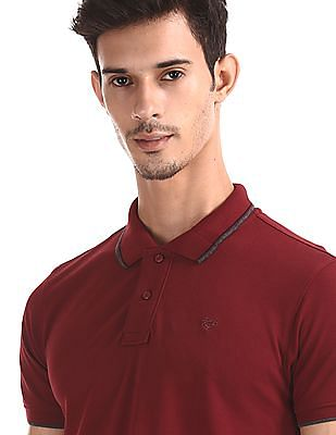 Ruggers Red Solid Pique Polo Shirt