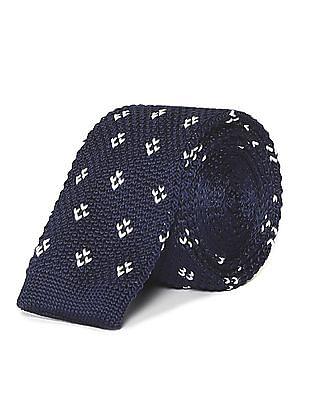 Arrow Contrast Knit Pattern Tie
