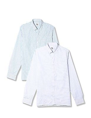 Excalibur Assorted Long Sleeve Check Shirt - Pack Of 2