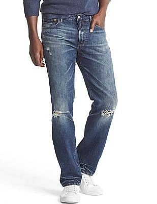 GAP Original 1969 Destructed Vintage Straight Fit Jeans