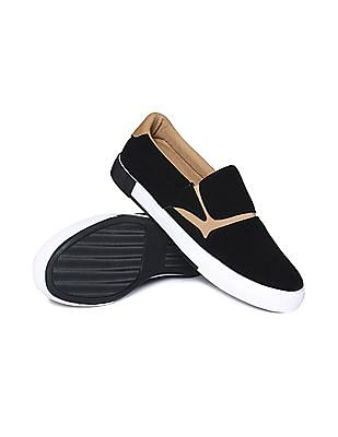 Aeropostale Contrast Sole Canvas Slip On Shoes