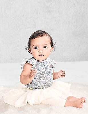 GAP Baby Multi Colour Print Flutter Bodysuit