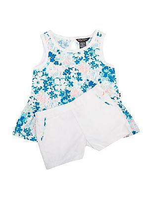 Nautica Kids Girls Peplum Top And Shorts Set