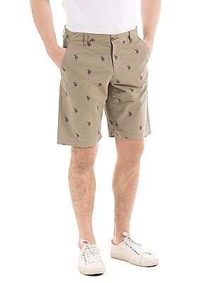 U.S. Polo Assn. Brand Print Chino Shorts
