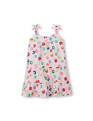 The Children's Place Toddler Girl Sleeveless Polka-Dot Dress