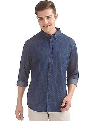 Aeropostale Printed Denim Shirt